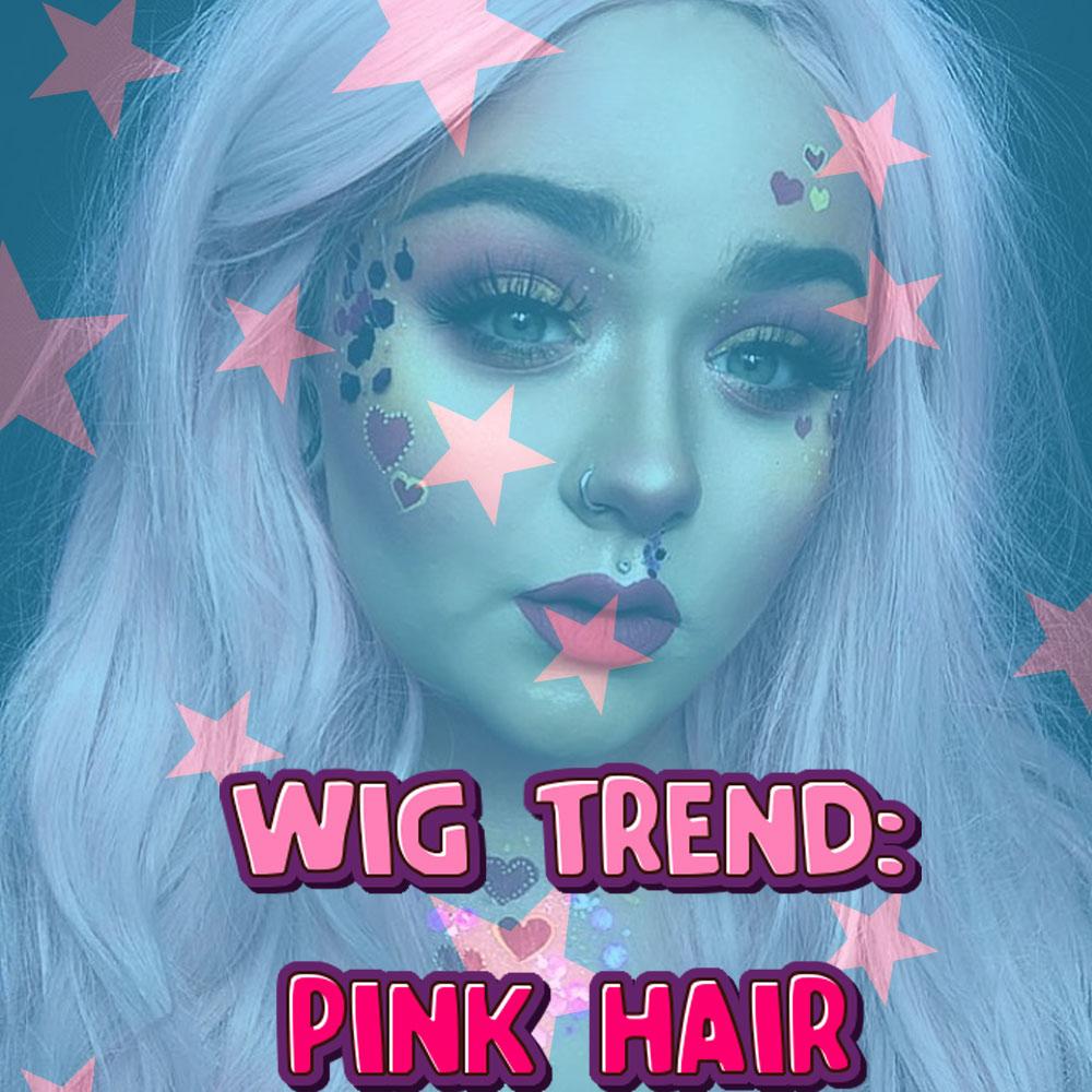 Long Pink Wigs UK