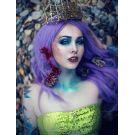 Light Purple Wig Long Wavy