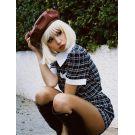 Platinum Blonde Wig With Bangs