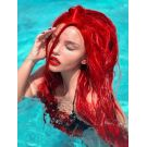 Bright Red Lace Front Wig