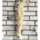 Clip In Ponytail Platinum Blonde Curly