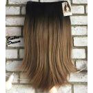 Half Wig Ombre Straight Long