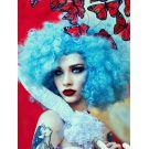 Pastel Blue Afro Wig