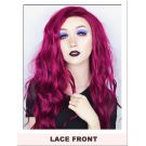 Red Purple Lace Front Wig UK