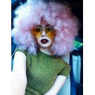 Afro Wig Coloured Pink