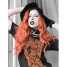 Peach Orange Wig Long Lace Front