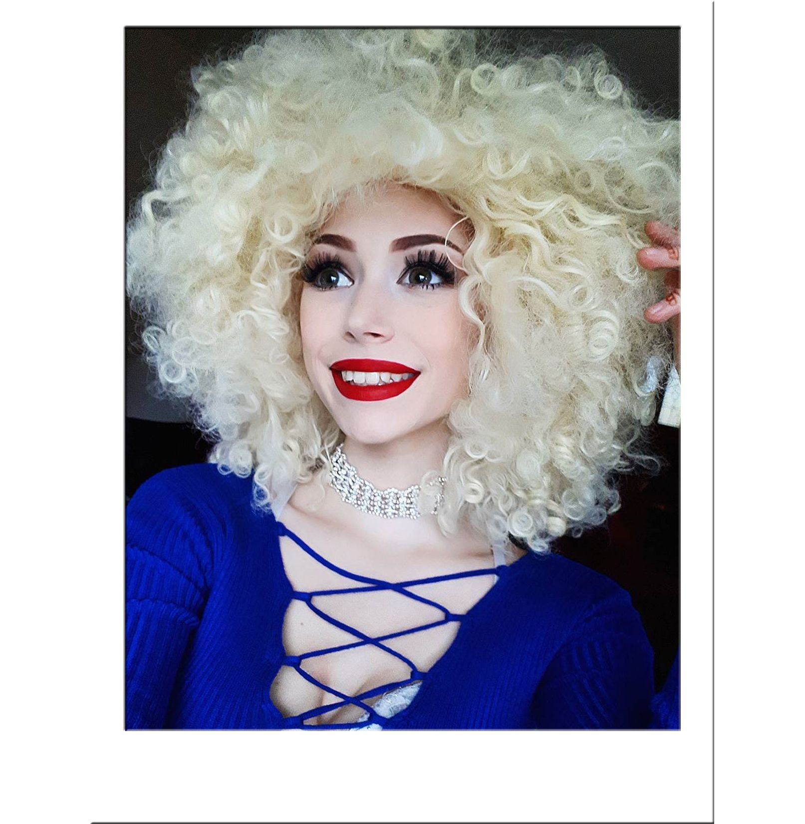 Extra Large Blonde Afro Wig Fashion Wigs Star Style Wigs