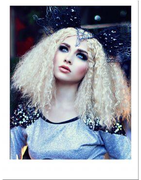 Afro Kinky Wig Blonde Long