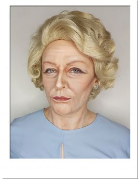 Blonde Old Lady Wig UK