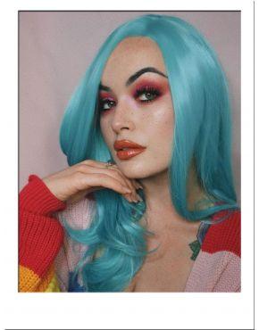 Blue Wig Pastel Long