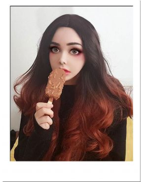 Brown Red Ombre Wig