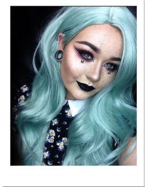 Green Wig Pastel Long