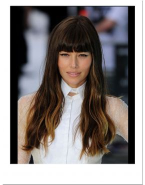 Jessica Biel Long Fashion Wig