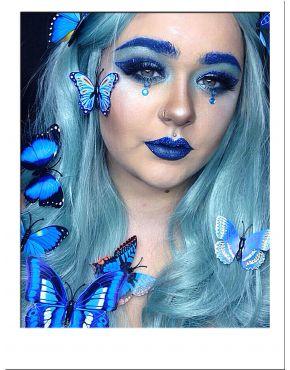 Blue Wavy Wig UK