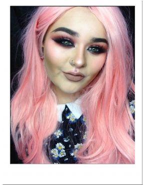 Pastel Pink Wavy Wig