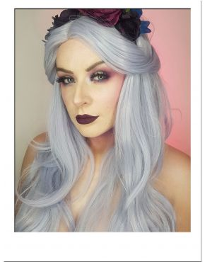 Metallic Silver Wig Long