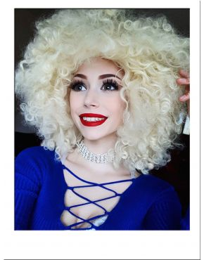 Extra Large Blonde Afro Wig UK
