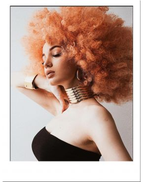 Afro Wig Curly Peach