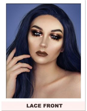 Dark Blue Lace Front Wig UK