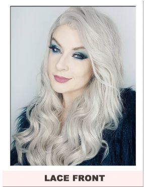 Frosted Fancy Grey Curly Lace Front Wig
