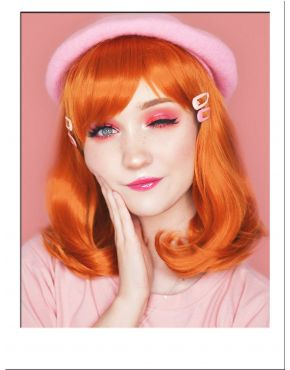 Ginger Lob Wig With Bangs