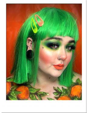 Green Bob Wig