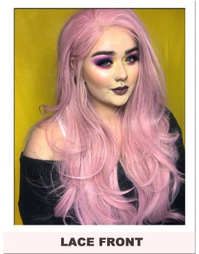 Light Pink Lace Front Wig UK