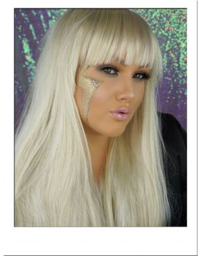Long Blonde Wig With Fringe UK