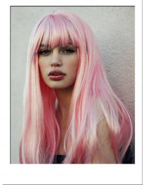 Paige Pink Long Blunt Fashion Wig