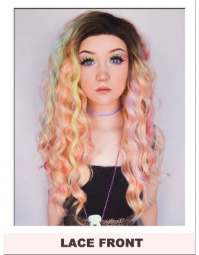 Pastel Rainbow Wig Lace Front