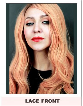 Peach Wig Lace Front Long