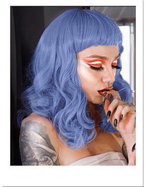 Pin Up Wig Blue