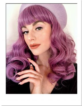 Pin Up Wig Purple