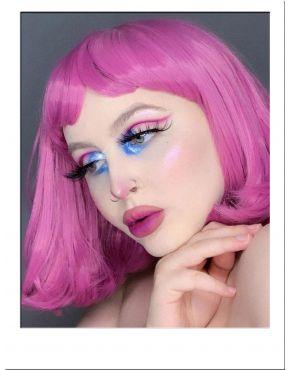 Pink Bob Wig With Bangs