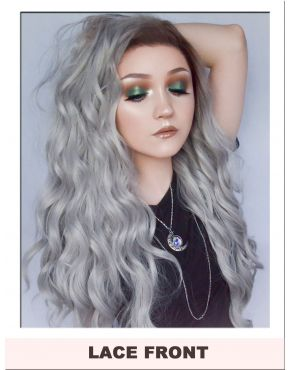 Silver Grey Lace Front Wig UK