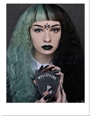 Half Black And Half Green Wig