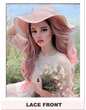 Pink Ombre Wig Lace Front