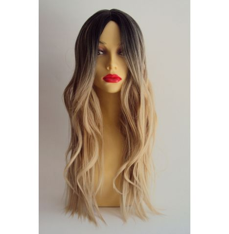 Long Blonde Wavy Fashion Wig