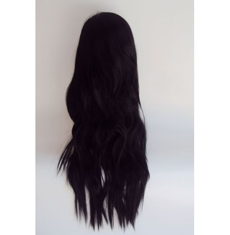 Extra Long Black Wavy Wig