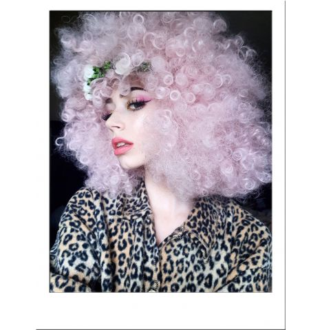 Extra Large Pink Afro Wig