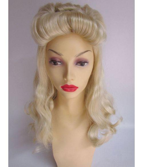 1940s Wig Blonde Victory Rolls