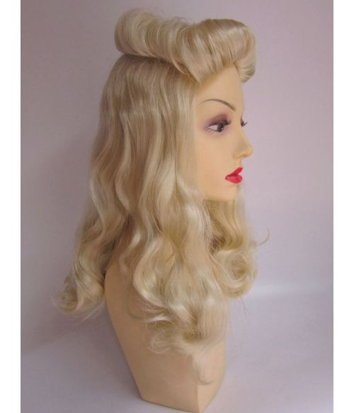 1940s Wig Victory Rolls