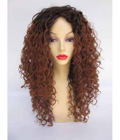 Black Brown Ombre Afro Wig