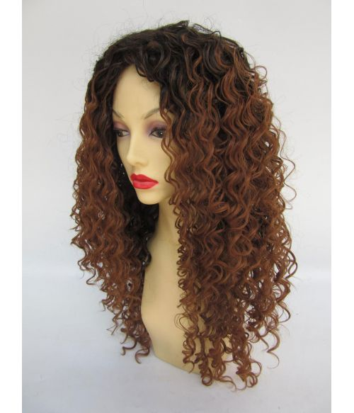 Ombre Curly Afro Wig Black Brown