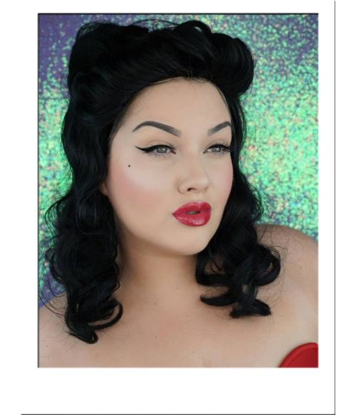 Black Pin Up Victory Rolls Wig