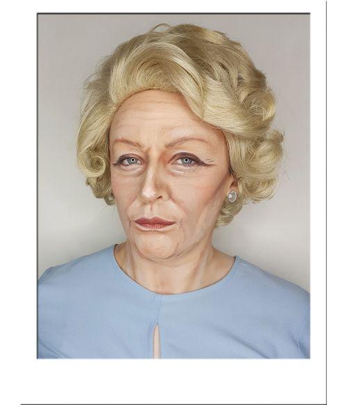Blonde Old Lady Wig