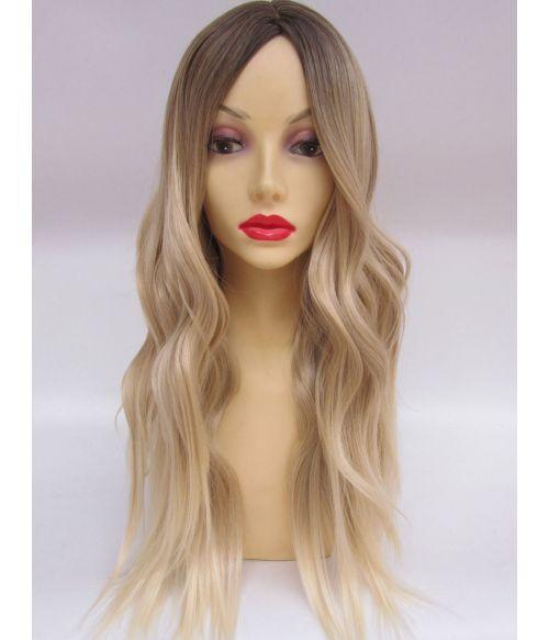 Blonde Wig Wavy With Dark Roots