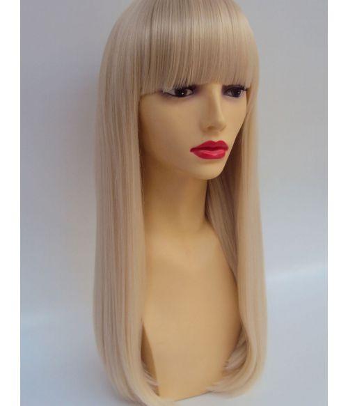 Blonde Wig With Bangs Platinum