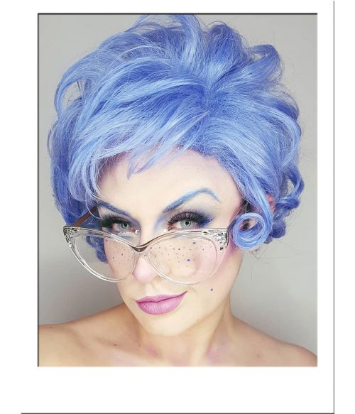 Blue Rinse Old Lady Wig