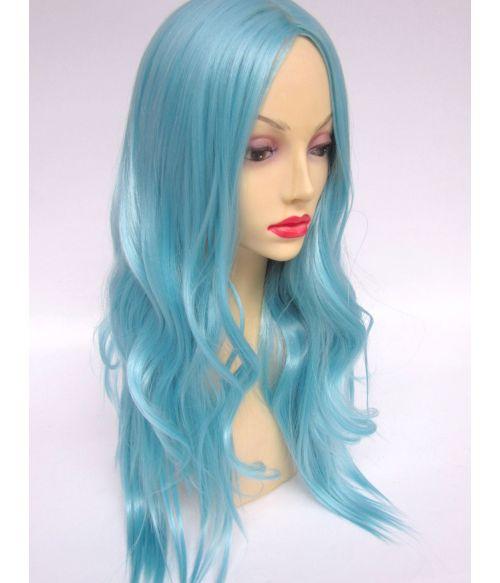 Blue Wavy Wig